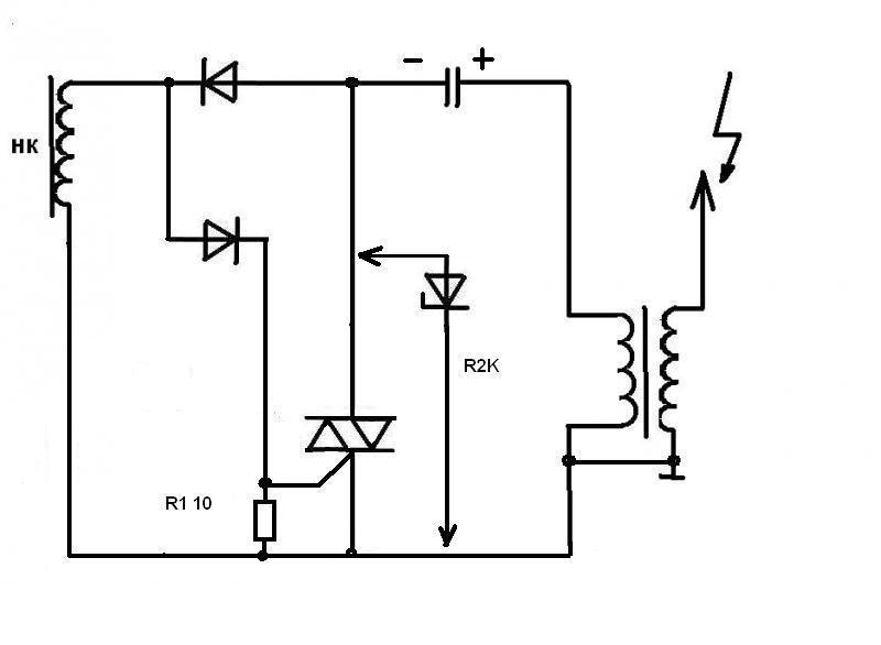 HI shipwreck: схема зарядного устройства на симисторе ку202н.